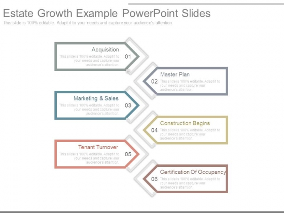 Estate Growth Example Powerpoint Slides