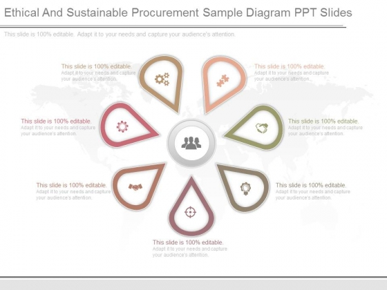 Ethical And Sustainable Procurement Sample Diagram Ppt Slides