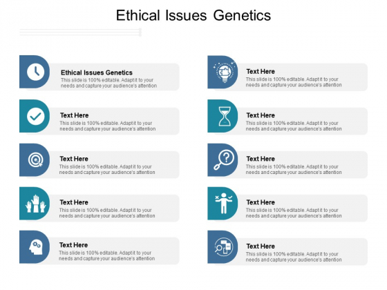Ethical Issues Genetics Ppt PowerPoint Presentation Professional Icon Cpb Pdf