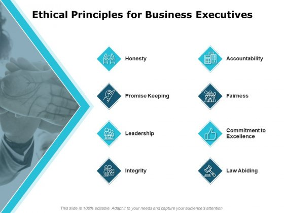 Ethical Principles For Business Executives Ppt PowerPoint Presentation Infographic Template Aids