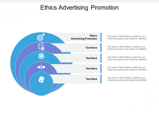 Ethics Advertising Promotion Ppt PowerPoint Presentation Infographics Slides Cpb