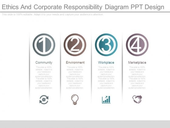 Ethics And Corporate Responsibility Diagram Ppt Design