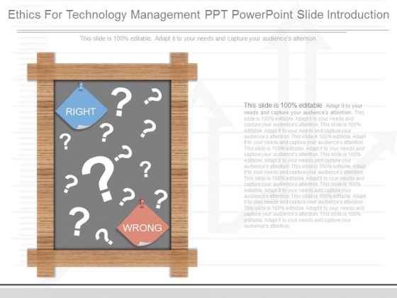 Ethics For Technology Management Ppt Powerpoint Slide Introduction