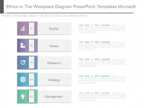 Ethics In The Workplace Diagram Powerpoint Templates Microsoft