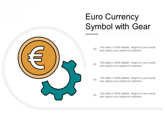 Euro Currency Symbol With Gear Ppt Powerpoint Presentation Infographic Template Templates
