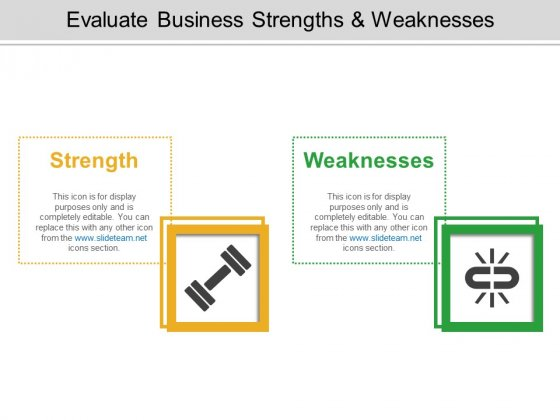 Evaluate Business Strengths And Weaknesses Ppt PowerPoint Presentation Infographics Files