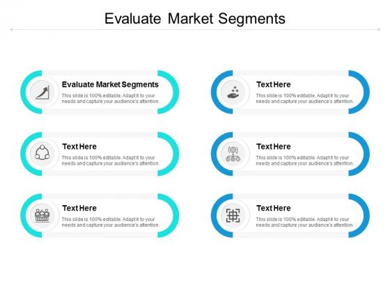 Evaluate Market Segments Ppt PowerPoint Presentation Portfolio Introduction Cpb