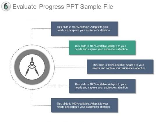 Evaluate Progress Ppt Sample File