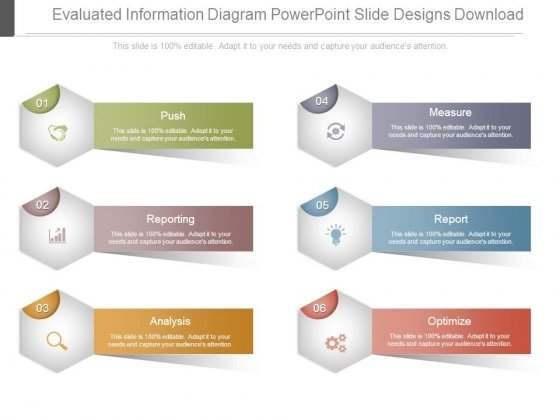 Evaluated Information Diagram Powerpoint Slide Designs Download