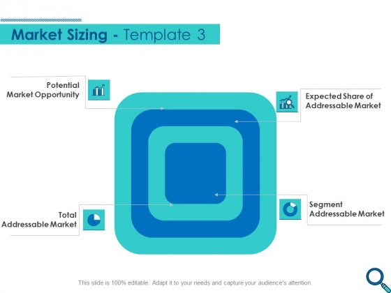 Evaluating Competitive Marketing Effectiveness Market Sizing Segment Slides PDF