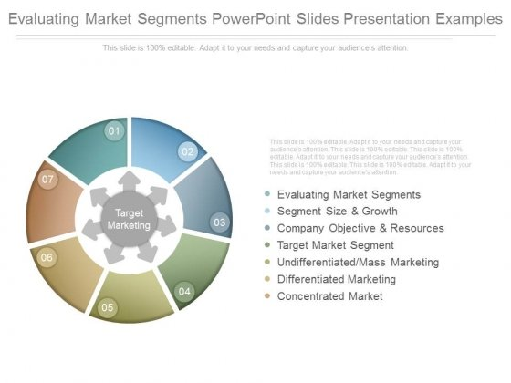 Evaluating Market Segments Powerpoint Slides Presentation Examples