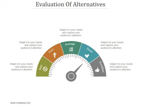 Evaluation Of Alternatives Ppt PowerPoint Presentation Inspiration