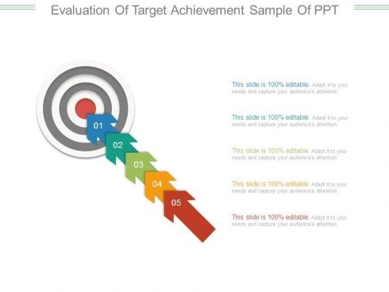 Evaluation Of Target Achievement Sample Of Ppt