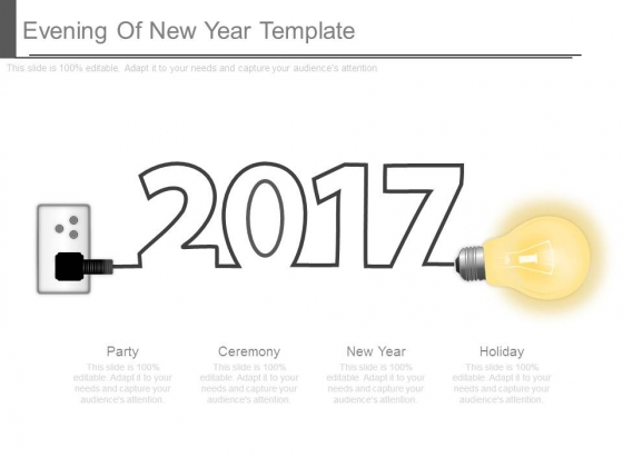 Evening Of New Year Template