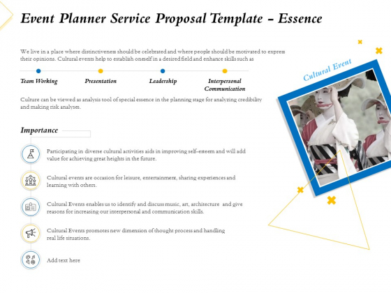 Event Planner Service Proposal Template Essence Ppt Professional Designs Download PDF