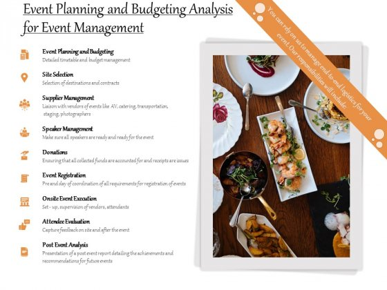 Event Planning And Budgeting Analysis For Event Management Ppt PowerPoint Presentation Icon Diagrams PDF