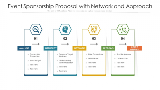 Event Sponsorship Proposal With Network And Approach Ppt PowerPoint Presentation File Images PDF