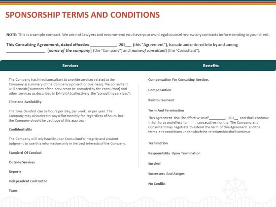 Event Sponsorship Terms And Conditions Ppt Portfolio File Formats PDF