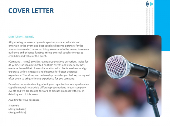 Event Time Announcer Cover Letter Ppt File Design Templates PDF