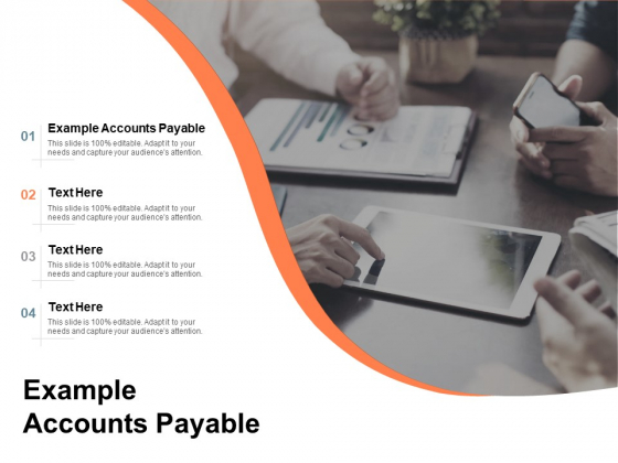 Example Accounts Payable Ppt PowerPoint Presentation Icon Samples Cpb