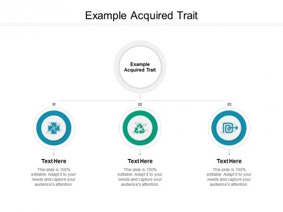 Example Acquired Trait Ppt PowerPoint Presentation Professional Deck Cpb Pdf