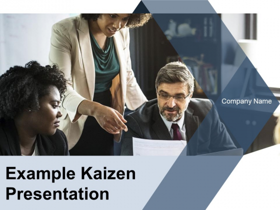 Example Kaizen Presentation Ppt PowerPoint Presentation Complete Deck With Slides