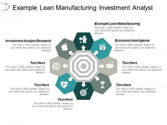 Example Lean Manufacturing Investment Analyst Research Economic Intelligence Ppt PowerPoint Presentation Infographics Demonstration