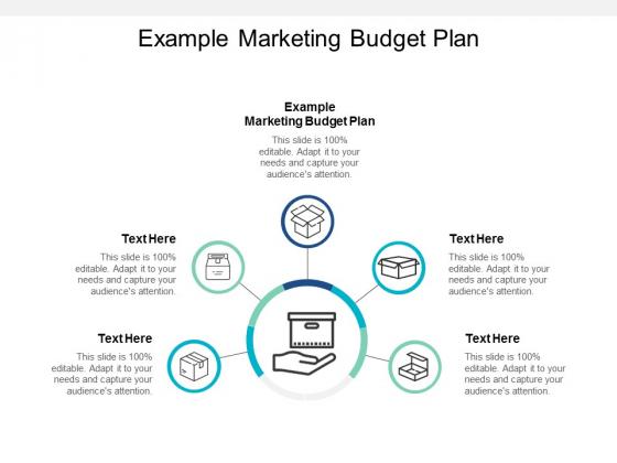 Example Marketing Budget Plan Ppt PowerPoint Presentation Summary Smartart Cpb