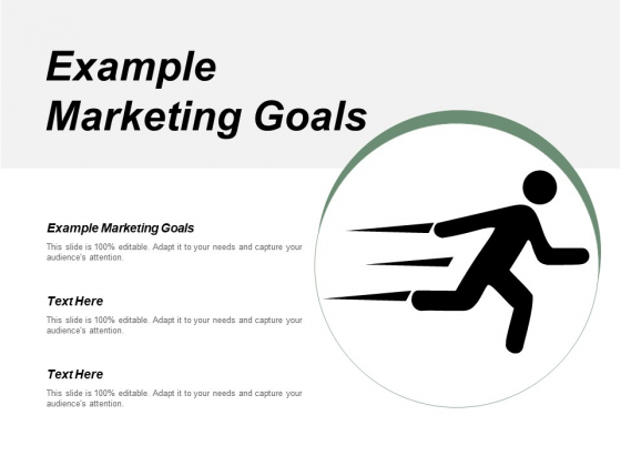 Example Marketing Goals Ppt PowerPoint Presentation Inspiration Templates Cpb
