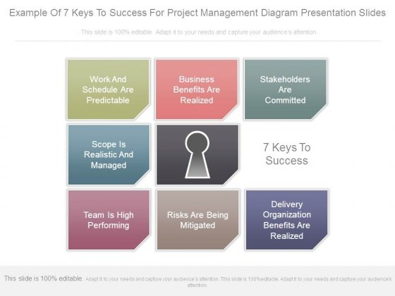 example of 7 keys to success for project management diagram