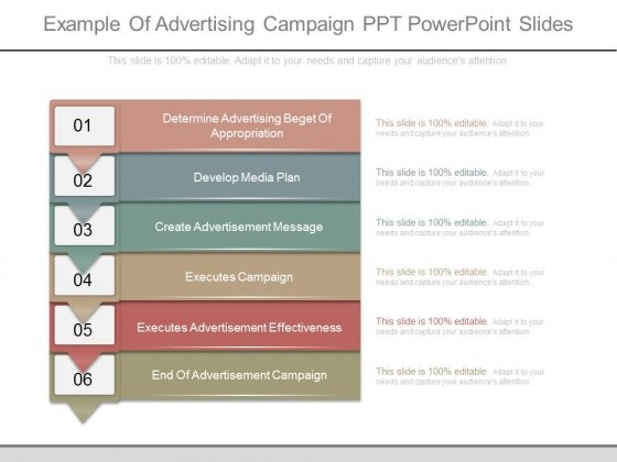 Example Of Advertising Campaign Ppt Powerpoint Slides  Powerpoint