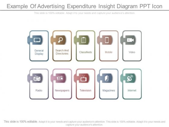 Example Of Advertising Expenditure Insight Diagram Ppt Icon