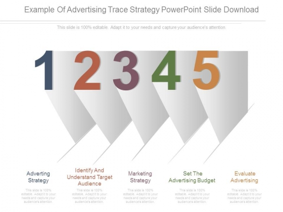 Example Of Advertising Trace Strategy Powerpoint Slide Download