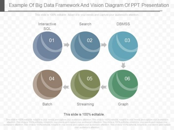 Example Of Big Data Framework And Vision Diagram Of Ppt Presentation