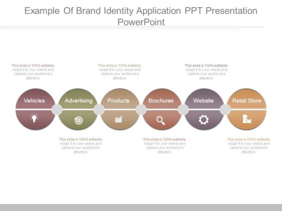 Example Of Brand Identity Application Ppt Presentation Powerpoint