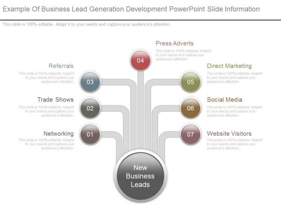 Example Of Business Lead Generation Development Powerpoint Slide Information