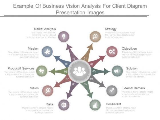 Example Of Business Vision Analysis For Client Diagram Presentation Images