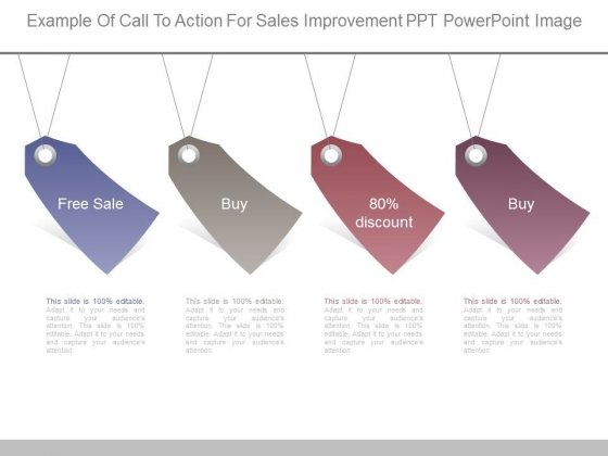 Example Of Call To Action For Sales Improvement Ppt Powerpoint Image