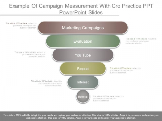 Example Of Campaign Measurement With Cro Practice Ppt Powerpoint Slides