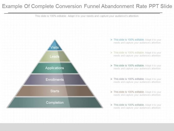 Example Of Complete Conversion Funnel Abandonment Rate Ppt Slide