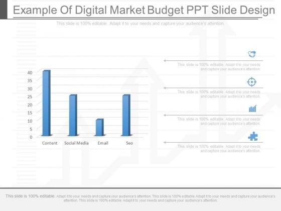 Example Of Digital Market Budget Ppt Slide Design