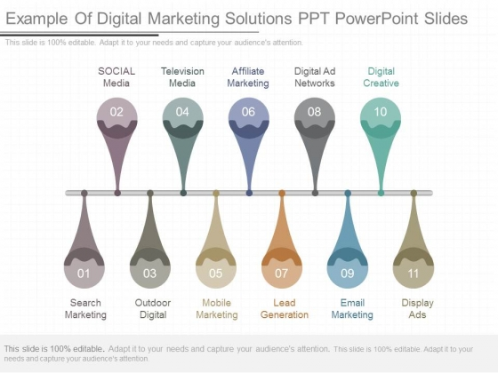 Example Of Digital Marketing Solutions Ppt Powerpoint Slides