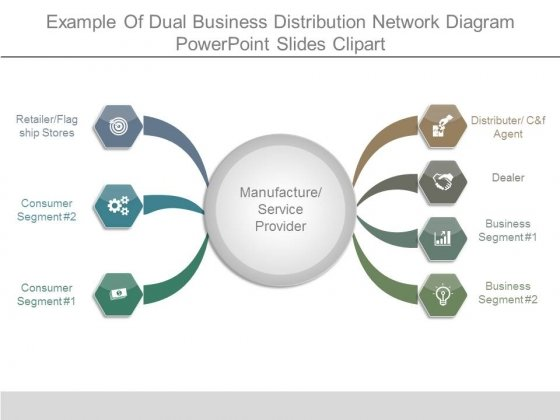 Example of dual business distribution network diagram powerpoint example of dual business distribution network diagram powerpoint slides clipart powerpoint templates ccuart Gallery