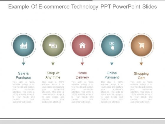 Example Of E Commerce Technology Ppt Powerpoint Slides