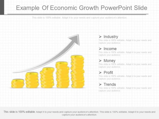 Example Of Economic Growth Powerpoint Slide