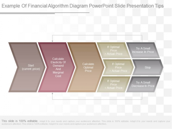 Example Of Financial Algorithm Diagram Powerpoint Slide Presentation Tips