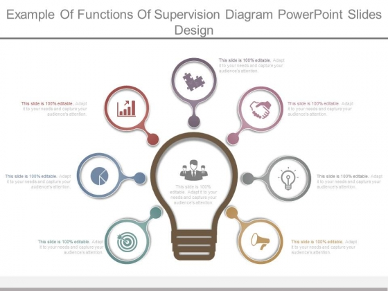 Example Of Functions Of Supervision Diagram Powerpoint Slides Design