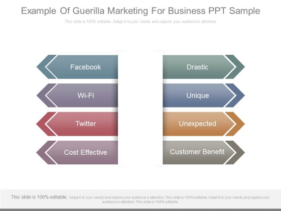 Example Of Guerilla Marketing For Business Ppt Sample