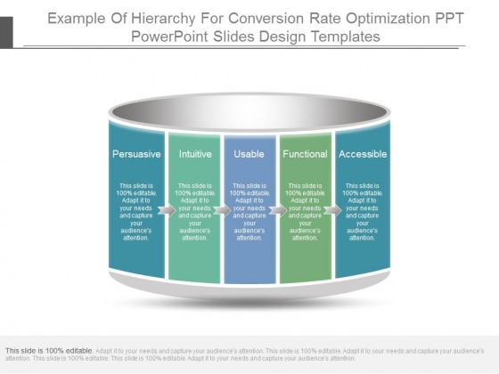 Example Of Hierarchy For Conversion Rate Optimization Ppt Powerpoint Slides Design Templates