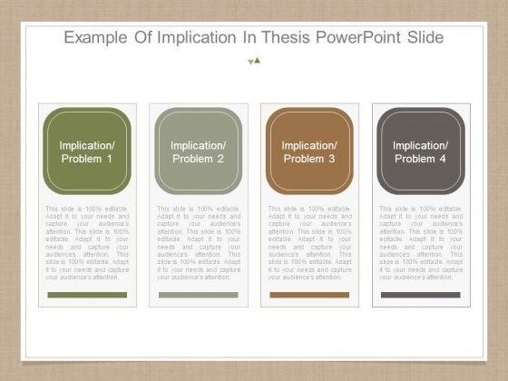 A sample thesis implication